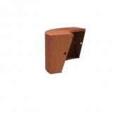 Stützmauer breit/Außenbogen aus Cortenstahl 1000x1000x600 mm