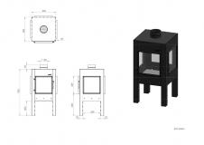 Terassenkamin schwarz Digna BDG2.150 HR Coating