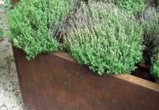 Pflanzentrog K500 - Cortenstahl