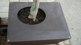Pflanzgefäß K500 - Cortenstahl R