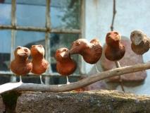 Vogel Terracotta klein